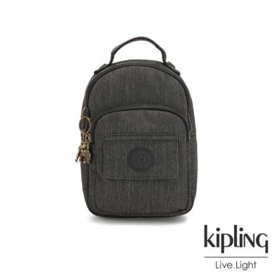 Kipling 復古質感丹寧黑三用隨身背包-ALBER