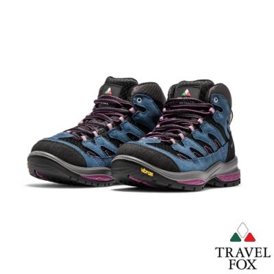 TRAVEL FOX(女)虎爪登山越野防水禦寒防震專業戶外登山鞋 - 粉底藍