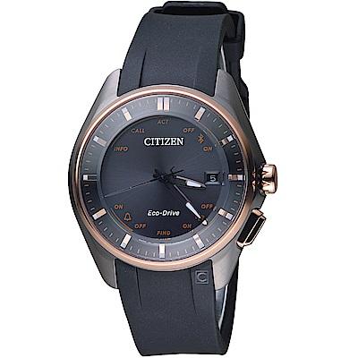 星辰CITIZEN GENT''S藍芽光動能鈦金屬限量腕錶(BZ4006-01E)