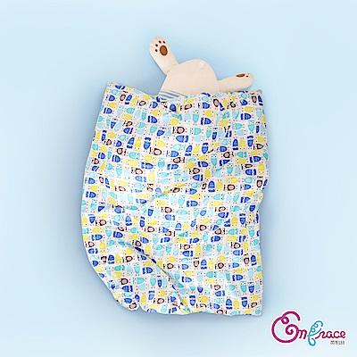 Embrace英柏絲 精梳純棉 插畫系列 兒童冬天暖被(藍色貓頭鷹)4x5尺