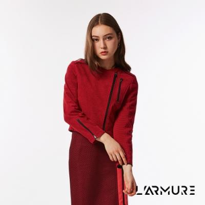 L ARMURE 女裝 短版 立體紋路 騎士夾克
