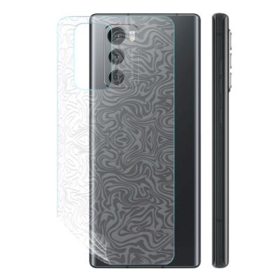 o-one大螢膜PRO LG Wing 5G  滿版全膠手機背面保護貼 手機保護貼-水舞款