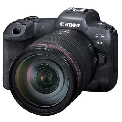 Canon EOS R5 + RF 24-105mm F4L IS USM 變焦鏡組(公司貨)