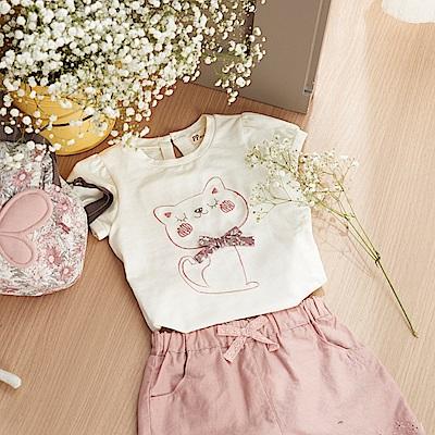 PIPPY 刺繡優雅小短褲 粉