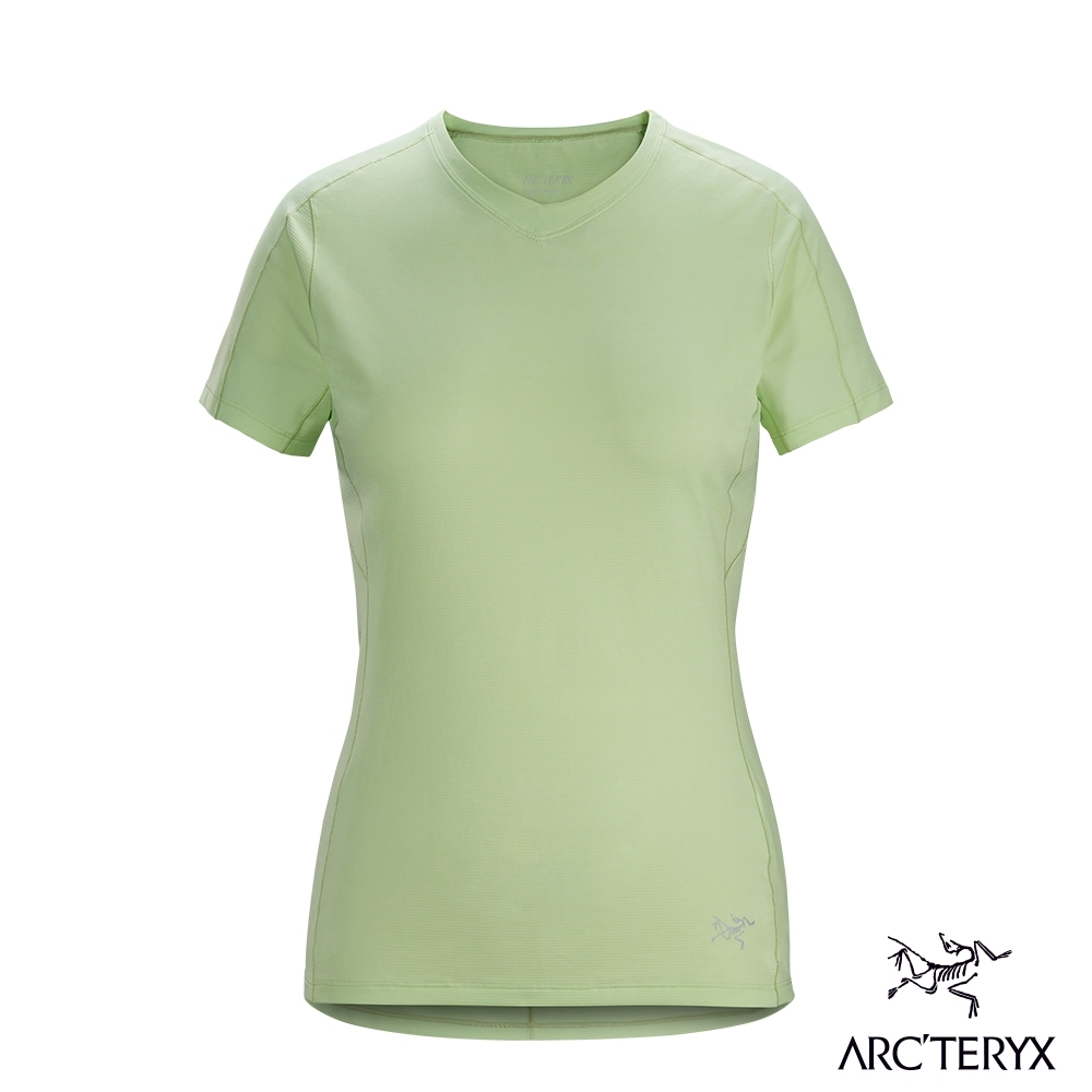 Arcteryx 始祖鳥 女 Taema 快乾 短袖 V領衫 淡綠
