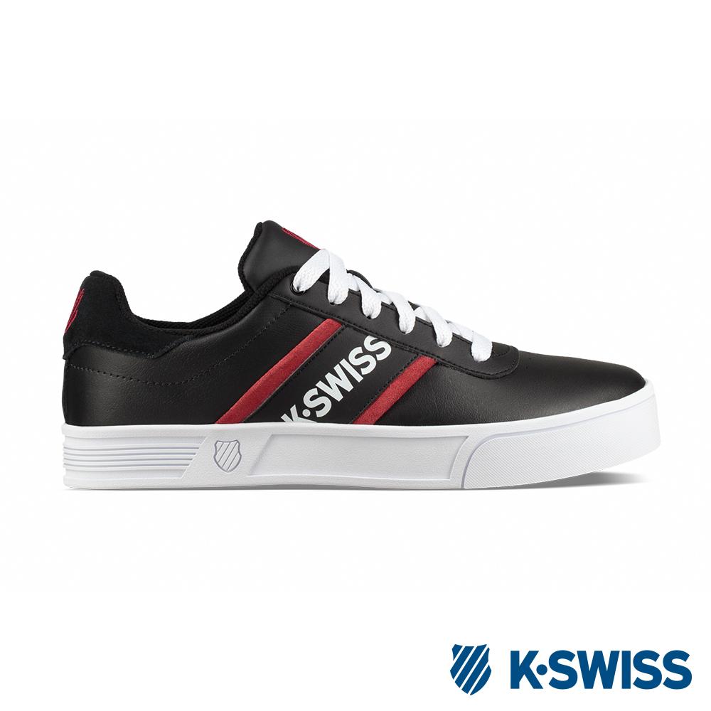 K-SWISS Court Lite Spellout休閒運動鞋-男-黑/紅