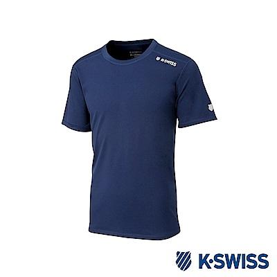 K-SWISS PF Solid Tee排汗T恤-女-藍