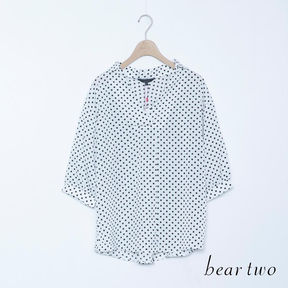 beartwo 甜味V領點點印花上衣(二色)