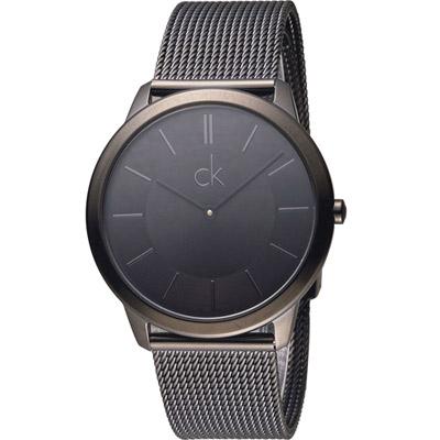 Calvin Klein Minimal 俐落米蘭時尚腕錶(K3M214B1)黑/40mm