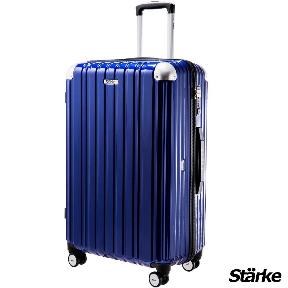 Starke LUXURY 26吋PC耐撞TSA海關鎖拉鏈行李箱/旅行箱 -藍色