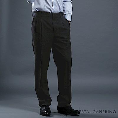 ROBERTA諾貝達 台灣製 合身版 輕量保暖 條紋西裝褲 深灰
