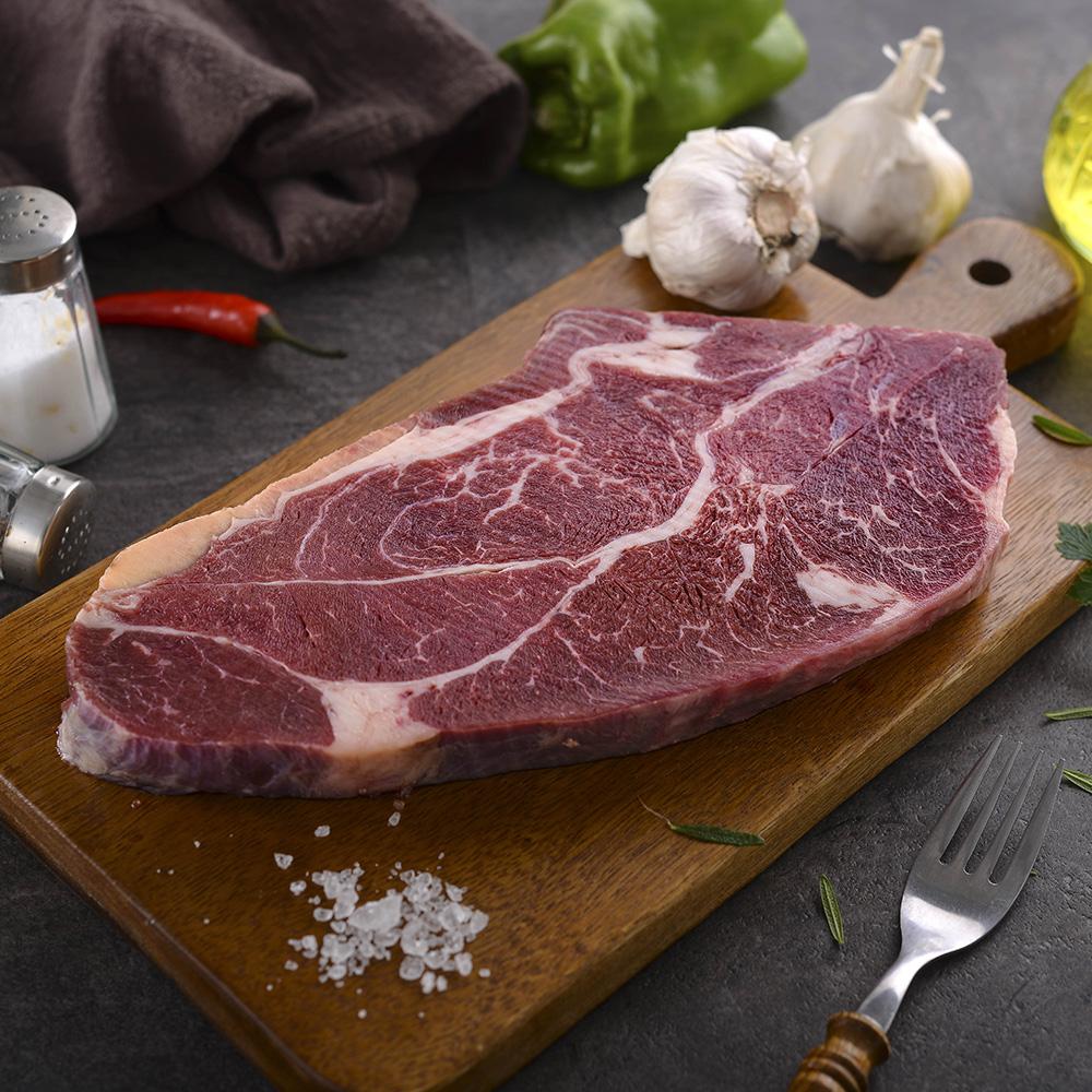 任-美福 美國安格斯21盎司厚切原塊牛排(600g/片)