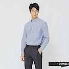 H:CONNECT 韓國品牌 男裝-簡約條紋配色襯衫-藍
