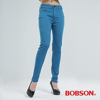 BOBSON 高腰強彈力緊身褲(天藍)
