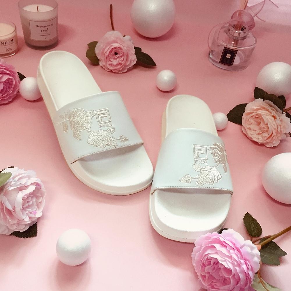 FILA #母親節限定 DRIFTER 女拖鞋-白 5-S136V-111