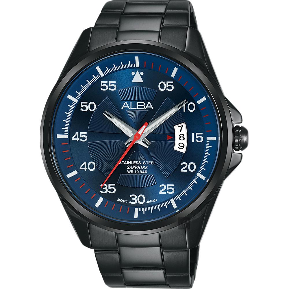 ALBA 雅柏 主張自我原創手錶(AS9H39X1)-藍/44mm