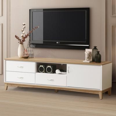 Homelike 桔雅6尺電視櫃-180 x 40 x 56 公分