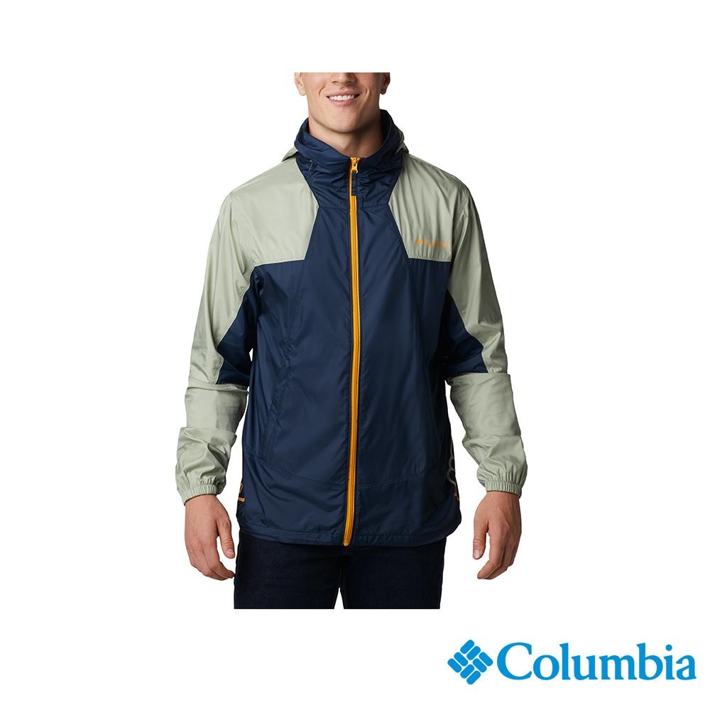 Columbia 哥倫比亞 男款 - UPF40防潑水風衣-2色  活動款  UKE00850 (深藍)