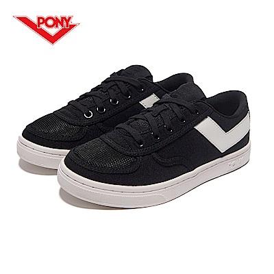 【PONY】Slam Dunk 個性風格滑板鞋款-女-黑