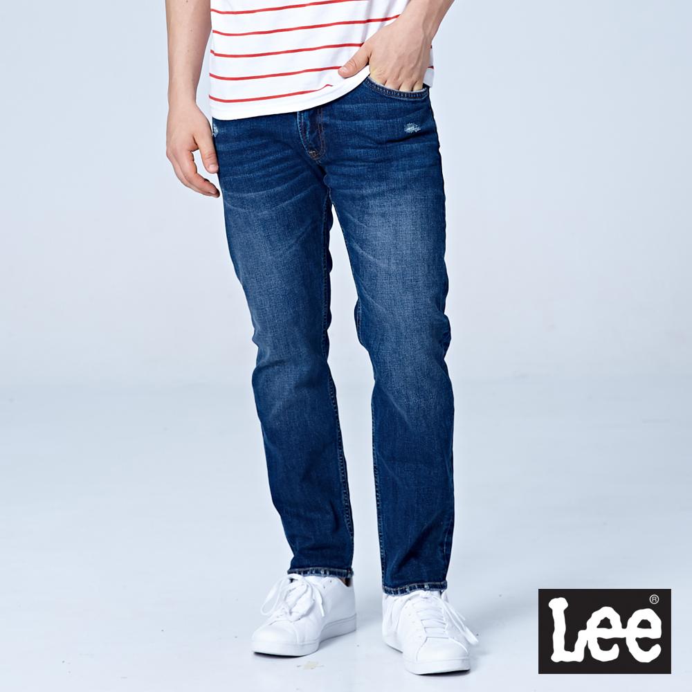 Lee 726中腰舒適小直筒牛仔褲/RG-中藍色