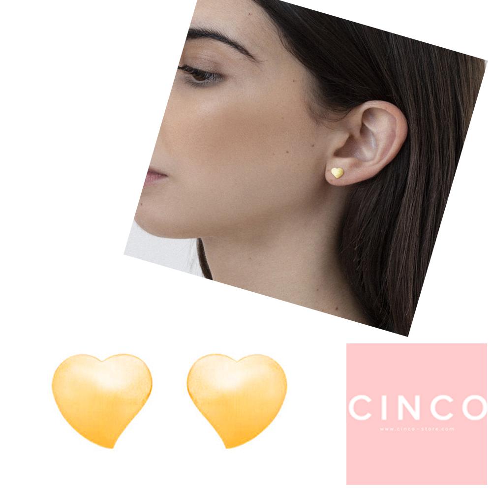 葡萄牙精品 CINCO Juliette earrings 24K金耳環 迷你愛心耳環