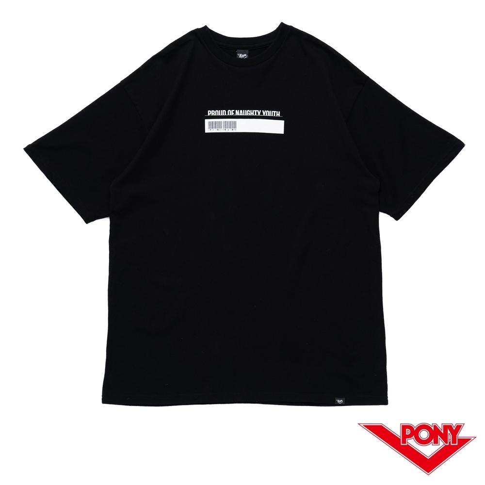 【PONY】黃色炸藥.tnt 聯名系列寬鬆 寬鬆 黑色 中性 短袖T恤