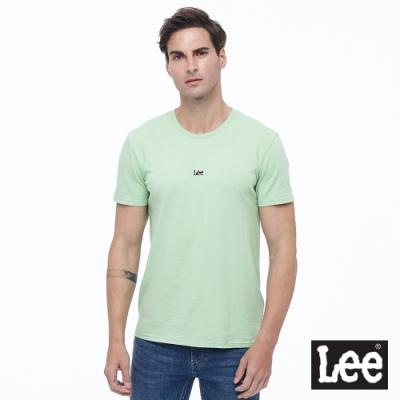 Lee 短T 小Logo布標 圓領T 男款-蘋果綠色