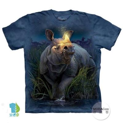 摩達客-美國The Mountain 麒麟犀牛 兒童版純棉環保短袖T恤