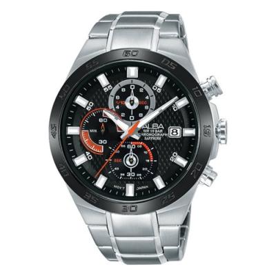 ALBA 雅柏 活力運動型男三眼計時腕錶-44MM(VD57-X080D AM3337X1)