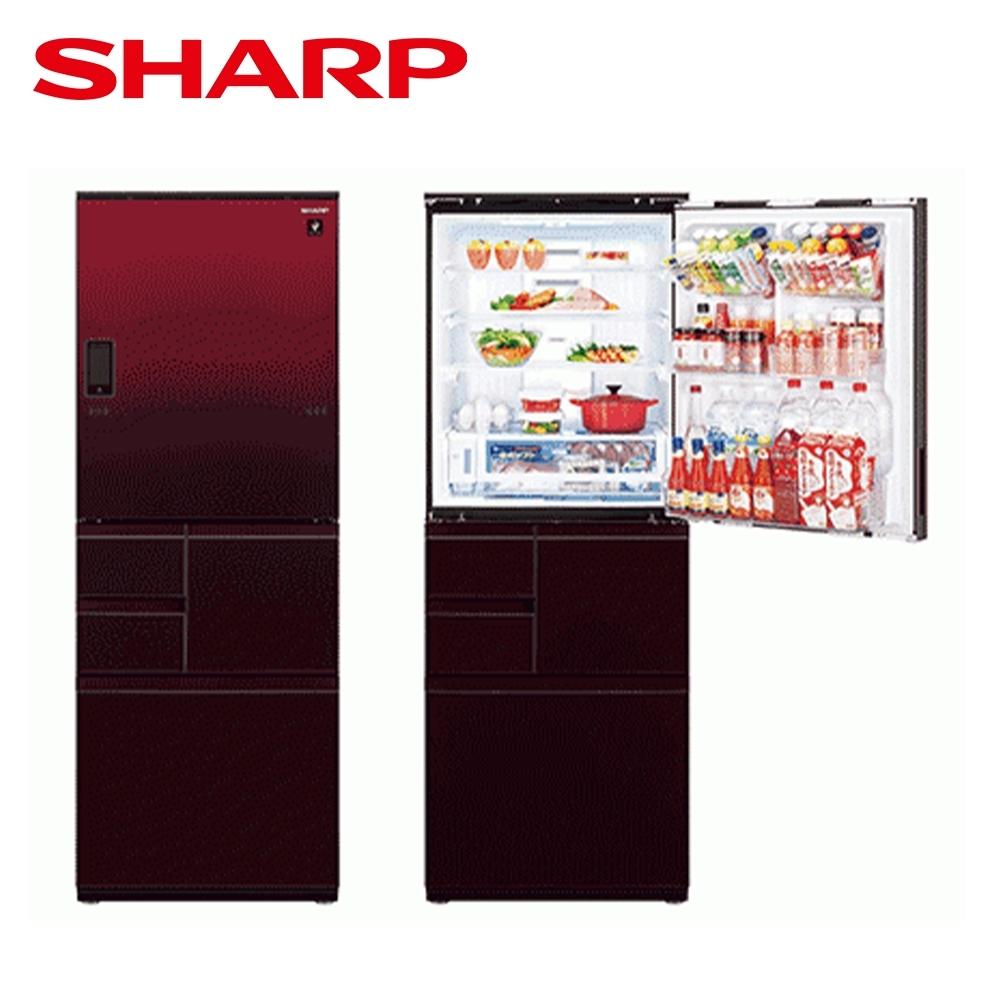 [下單再折] SHARP 夏普 551L 自動除菌離子變頻觸控左右開冰箱 星鑽紅 SJ-WX55ET-R