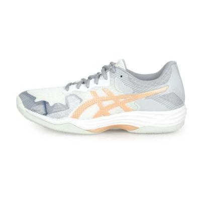 ASICS 女 排羽球鞋 GEL-TACTIC 白灰金