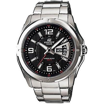 CASIO卡西歐EDIFICE俐落時尚腕錶(EF-129D-1A)-黑