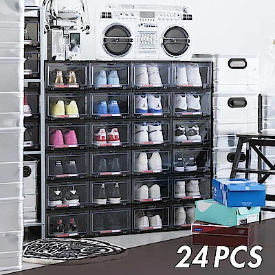 Y.A.S 美鞋神器 抗UV高端收納鞋盒-24件組