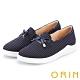 ORIN 條紋質感拼接平底 女 休閒鞋 深藍 product thumbnail 1