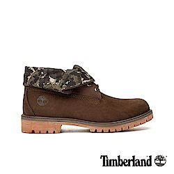 Timberland 男款深咖啡色正絨面皮革靴 A21AP
