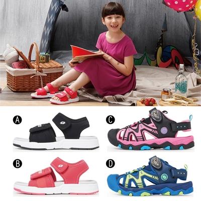 【時時樂限定5折】LOTTO 義大利 童鞋 輕量運動/磁扣護趾涼鞋(4款任選)