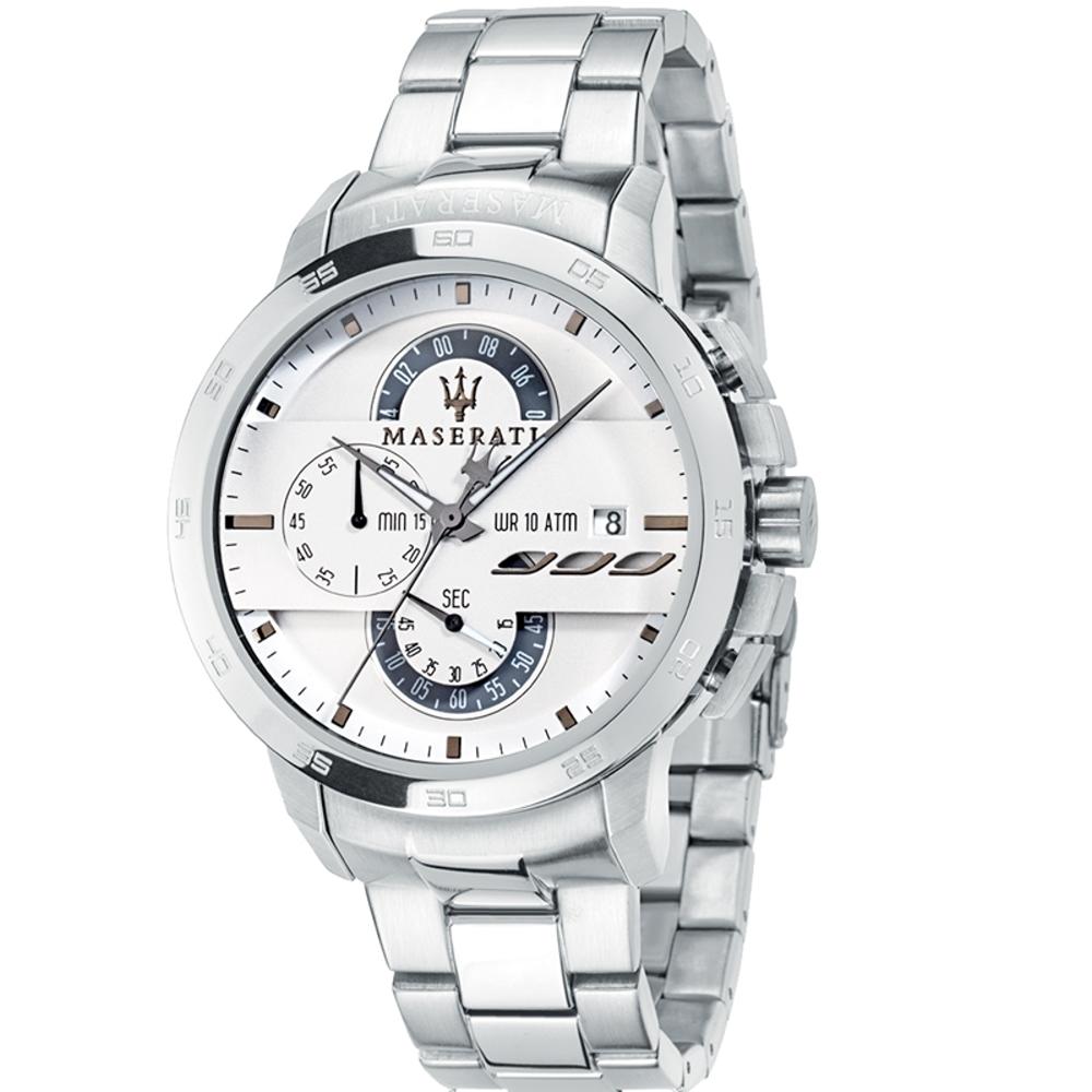 MASERATI-瑪莎拉蒂-三環獨特計時石英錶R8873619004