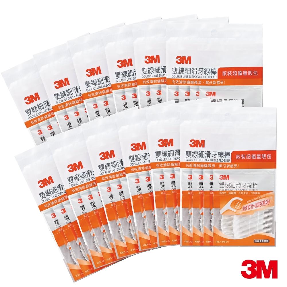 [加贈100支]3M 雙線牙線棒量販包12包/共1536支