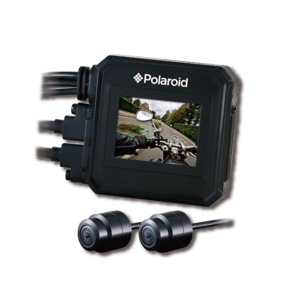 Polaroid寶麗萊 蜂鷹MS295WG 夜視雙鏡1080P GPS機車行車紀錄器-快