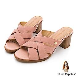 Hush Puppies Griffon 美型厚跟涼鞋-粉紅