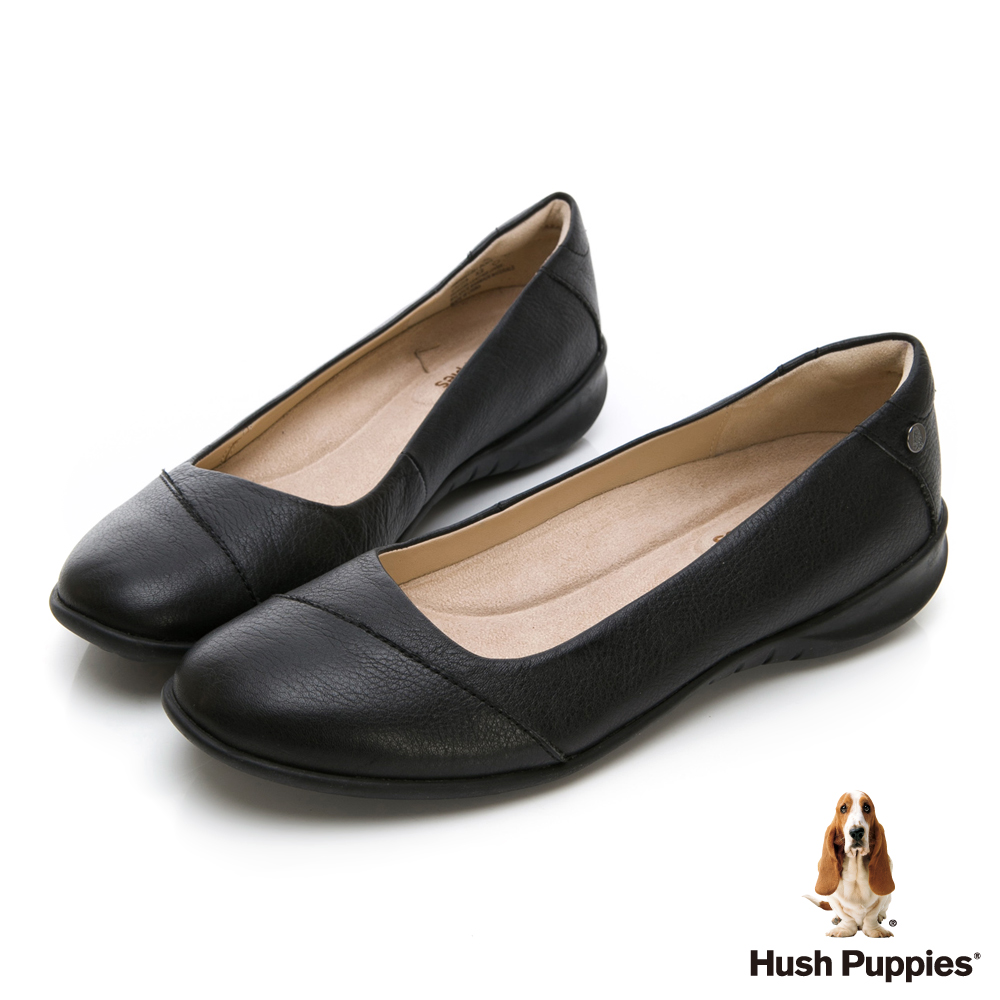 Hush Puppies Linnet 圓口厚底上班鞋-幻黑