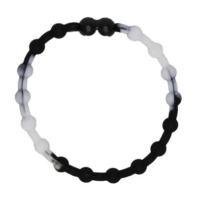 Pro Hair Tie 扣環髮圈單條組-黑白色
