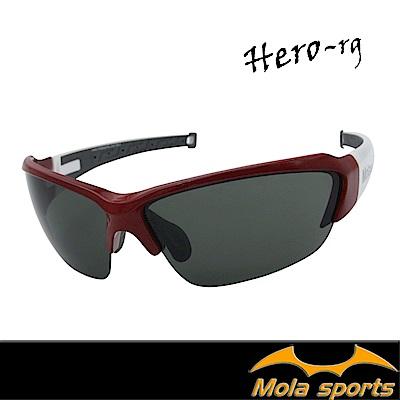 MOLA摩拉運動太陽眼鏡 UV400 男女 防刮 灰色 自行車 跑步 高爾夫 棒球 Her