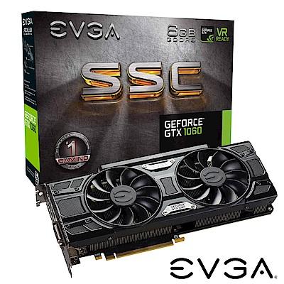 艾維克EVGA GTX1060 6GB SSC GAMING ACX3.0 PCI-E圖形