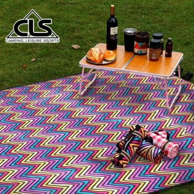 韓國CLS 加大紫色格紋野餐墊 地墊 防潮墊 寶寶爬行 地布