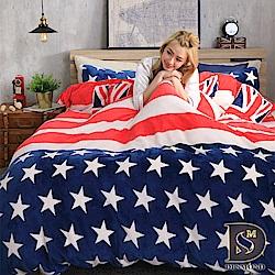 DESMOND岱思夢 單人_法蘭絨床包兩用毯被套三件組 美國往事