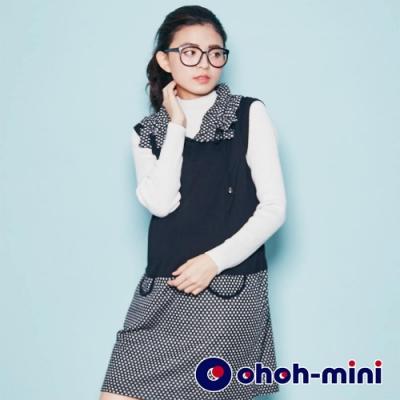 【ohoh-mini孕婦裝】立體造型點點領孕婦背心洋裝