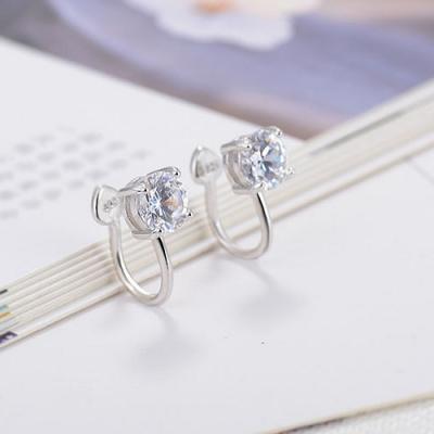 梨花HaNA 無耳洞韓國極簡系列單鑽6mm耳骨夾耳環