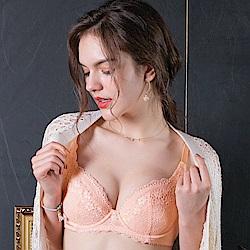 推EASY SHOP-柔情蔓戀 大罩杯B-E罩內衣(粉膚橘)