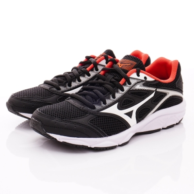 MIZUNO童鞋 競速運動鞋款 ON92002黑白(中大童段)